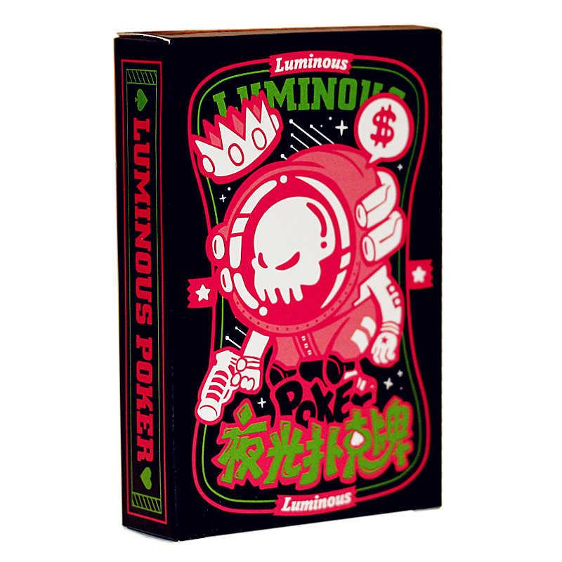 1 قطعة بطاقات اللعب مضيئة مجلس لعبة هدية الإسفار بار ملهى ليلي Nights بوكر كول ليلة ساعة بطاقات بوكر