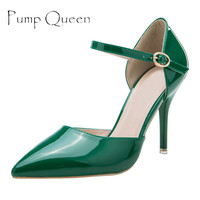 Shoes Woman High Heels Women Pumps 2017 Spring Summer Female Shoes Elegant Wedding Shoe Green Red