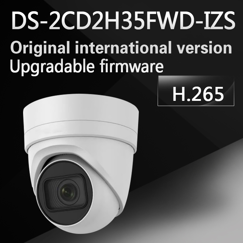 Free shipping international model DS-2CD2H35FWD-IZS 3MP turret cctv security camera WDR VF lens IP67 IK10 H.265 eng ver multi language 8mp vari focal security camera h 265 ds 2cd2h85fwd izs turret cctv ip poe camera 2 8 12mm face detection
