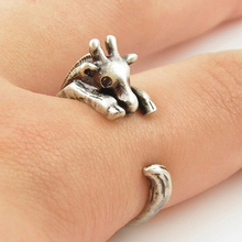 Women's Chic Finger Cute Lamb Head Shaped Wrap Animal Opening Punk Knuckle Ring