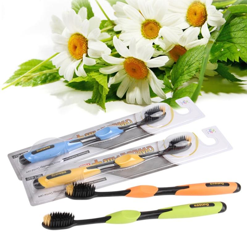 Black Bamboo Toothbrush Charcoal Nano Soft Brishtles Tooth Brush 4 colors randomly delivery 5