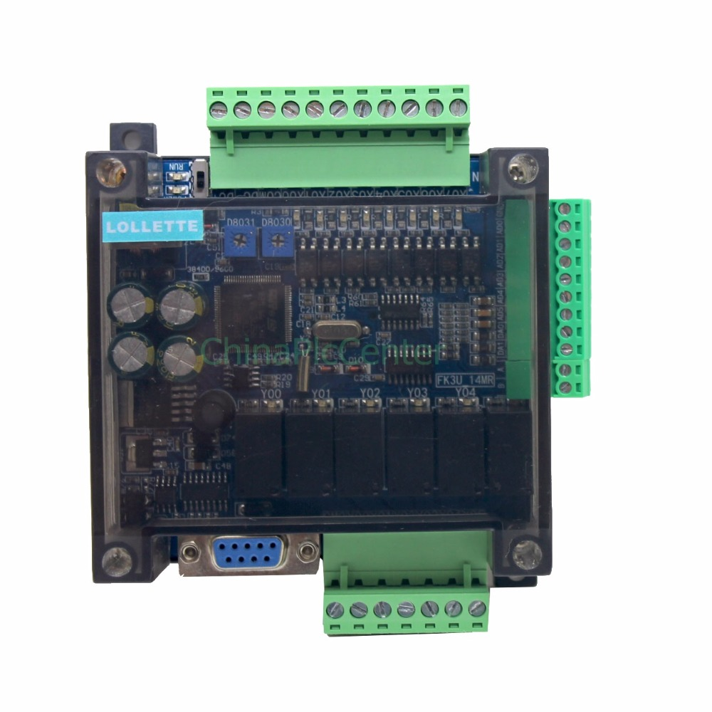 LE3U FX3U 14MR 6AD 2DA RS485 8 input 6 relay output 6 analog input 2 analog (0-10V) output plc controller RTC (real time clock)
