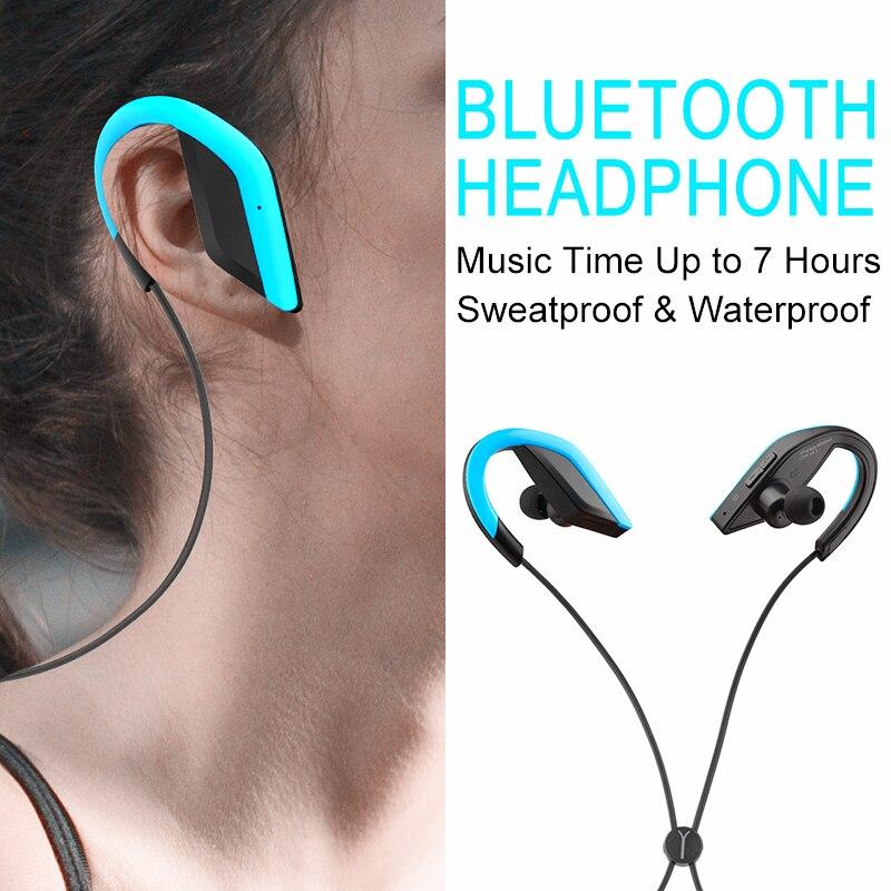 bilder für HanToper S03 V4.1 Bluetooth Headset Kopfhörer Stereo Kopfhörer Mikrofon AptX Sport Kopfhörer Für iPhone Android-Handy