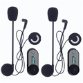 Cheap 2PCS BT Bluetooth Motorcycle Helmet Intercom Interphone Headset with LCD screen + FM radio function