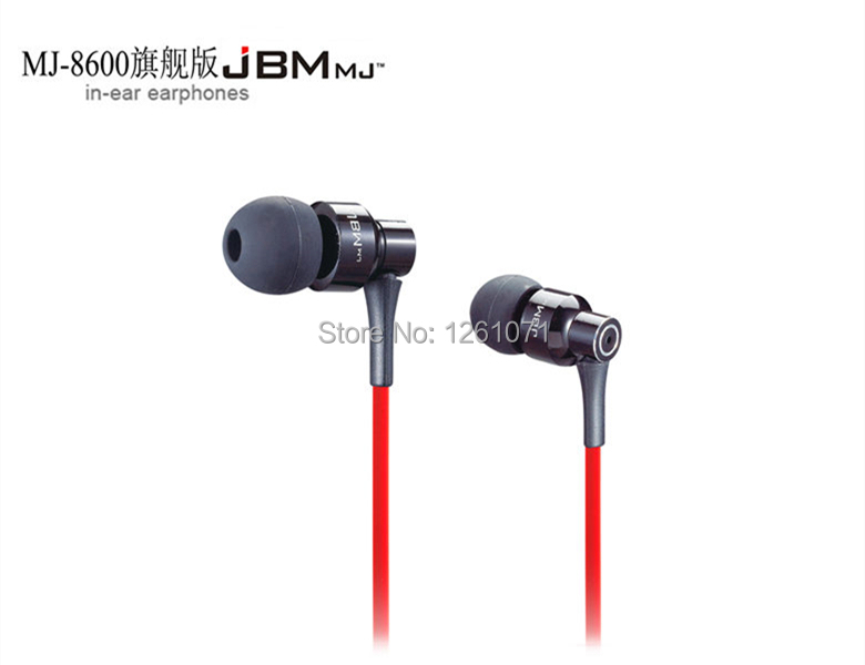 Brand New Top Quality Metal in ear headphones JBM MJ-8600 In-ear Earphone HD HiFi headphone with Retail Box