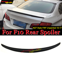 Fits For BMW F10 wing Spoiler Performance 2010-2017 5 Series Sedan F10 FRP Unpainted P style M5 Rear Trunk Wings car styling