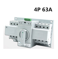 4P 63A MCB type Dual Power Automatic transfer switch ATS white sheel