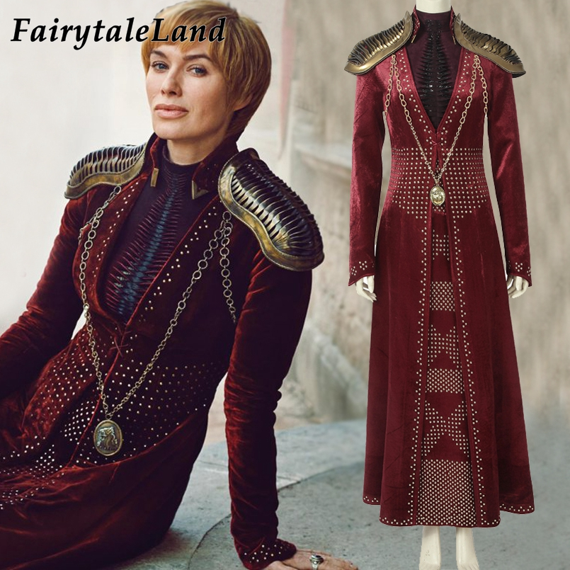 Cersei Lannister cosplay costume Halloween costume Cosplay Outfit Game Of Thrones Season 8 Queen Cersei Lannister Dress