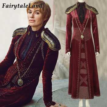 Cersei Lannister cosplay costume Halloween costume Cosplay Outfit Game Of Thrones Season 8 Queen Cersei Lannister Dress - Category 🛒 Novelty & Special Use