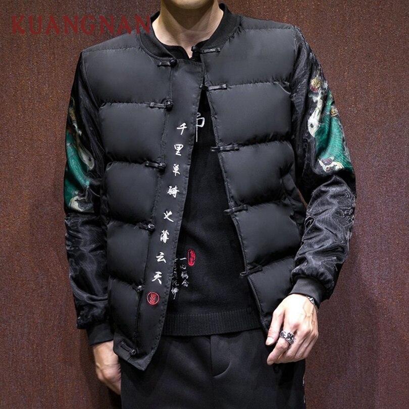 Yu Parka Veste Chinois D hiver Vêtements Style vent Kuangnan monkey Hiver  King Pinte Manteau 2018 Vestes Long Guan Hommes ... dd246861a983