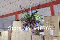 C45 Free wysyłka mały dmuchanego szkła żyrandol sztuki w Żyrandole od Lampy i oświetlenie na