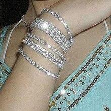 Женский ювелирный браслет яркий блестящий имитация Rninestone акриловый браслет для женщин