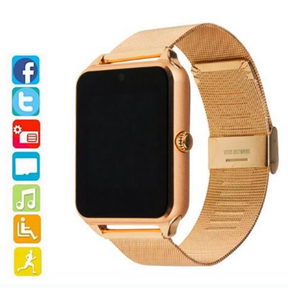 Smart Watch GT08 Men Women Plus Metal Strap Bluetooth Fitness Tracker Wrist Smartwatch Support Sim TF Card Android&IOS PK S8 Z60