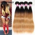 Rosa Hair Products Brazilian Virgin Hair Straight 10A Virgin Blonde Brazilian Hair 1b 27 Ombre Brazilian Human Hair 4 Bundles