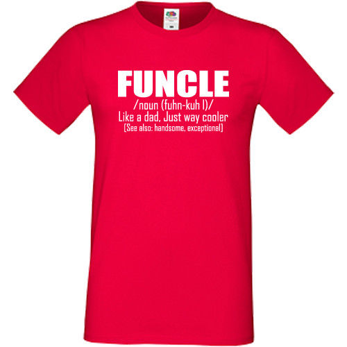 edb1c8c69 Funcle T Shirt Funny Gift Present For Fun Uncle Birthday Christmas Xmas Top  Tee 100% Cotton Humor Men Crewneck Tee Shirts-in T-Shirts from Men's  Clothing on ...