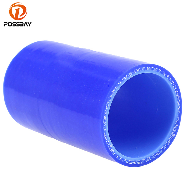 POSSBAY 38/51/57/60/63/70/76/80/83mm 1.5''- 3'' Air Fillter Intake Pipe Straight Constant Diamete Silicone Hose Reducer Tube