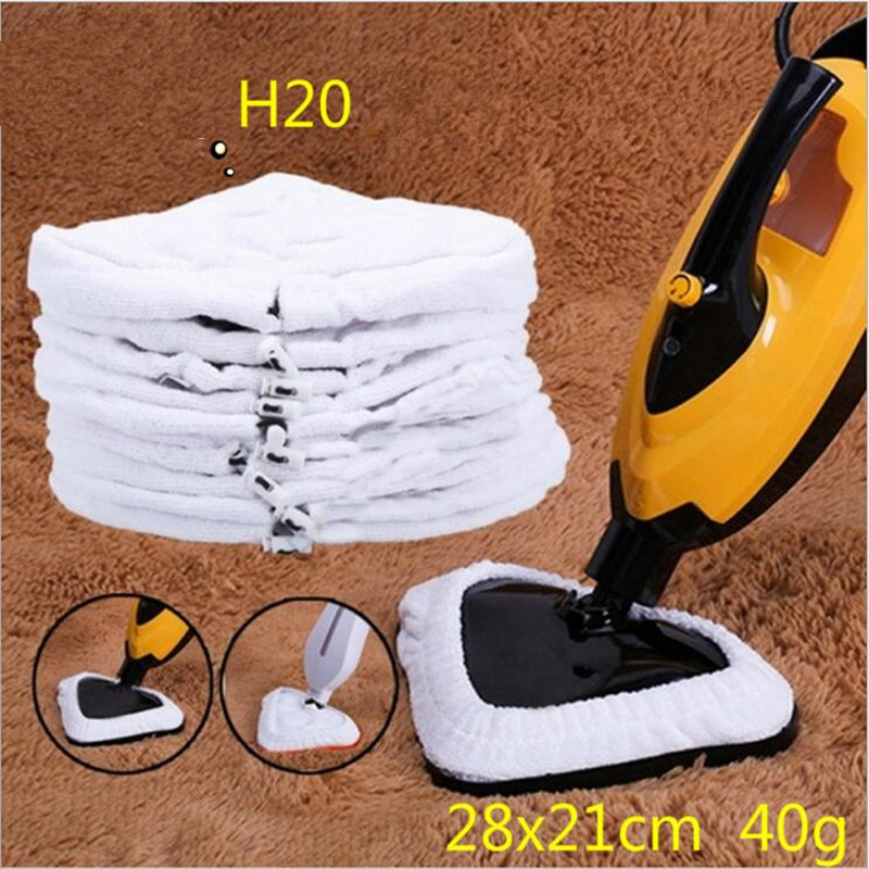4Pcs/Lot H2O X5 Model Steam Mop Replacement Pad Mop Clean Washable Cloth Microfiber WASHABLE Mop Head In Mop Reusable Cloth(China)