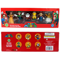 6Pcs Set Super Mario Bros PVC Action Figure Toys Dolls Mario Luigi Yoshi Mushroom Donkey Kong