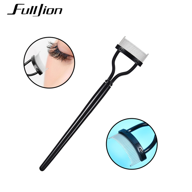 Fulljion Eyelash Comb Lash Separator Lift Curl Metal Brush Mascara Guide Applicator Eyebrow Brush Curler Beauty Eye Makeup Tools