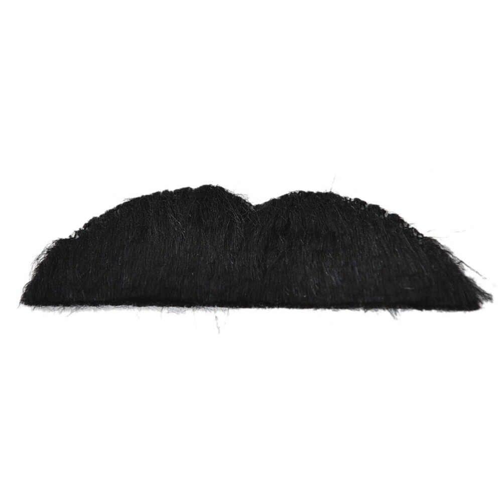 6pcs Divertente Baffi Finti Autoadesivo Pirata Decorazione Del Partito di Halloween Cosplay Moustache Del Partito Barba Finta Baffo Bambini di Età Nero