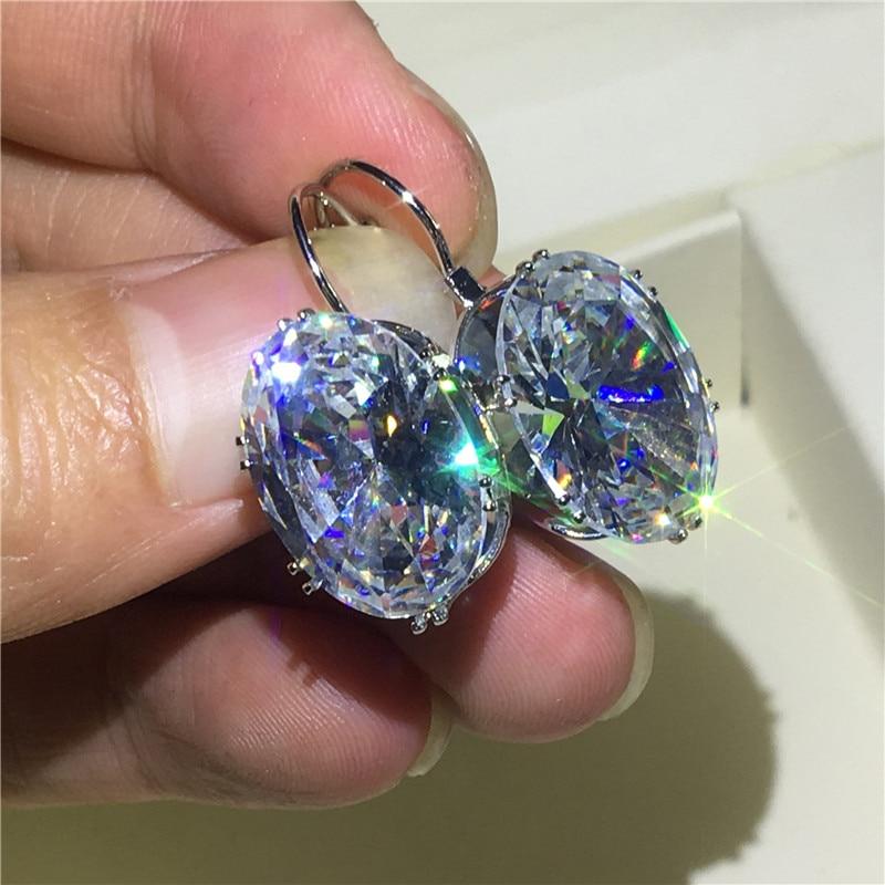 Sparkling Water Drop Earrring AAAAA Cz 925 sterling silver Bohe Engagement Wedding Dangle Earrings for women Party Jewelry