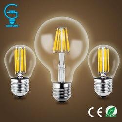 Gitex antigo led e27 lâmpada retro 220 v 2 w 4 6 8 led filamento luz e14 bola de vidro bombillas lâmpada led edison vela luz