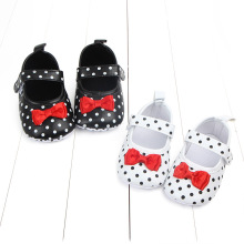 Autumn/Spring Baby Shoes Cute Polka Dot Bow Girls Princess PU Leather Prewalker Soft Toddler Casual Shoes For 1 Year Old