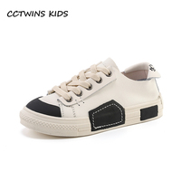 CCTWINS Kids Shoes Spring Boys Fashion Black Shoes Girls Genuine Leather Sneakers for Children Sport Shoes Casual Trainer FC2499