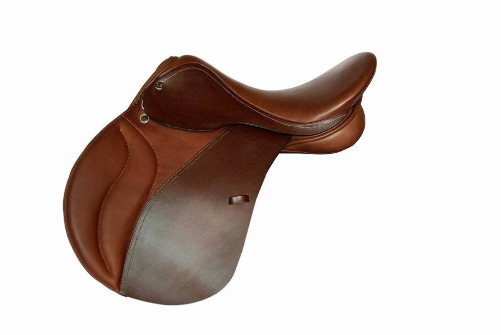 Aoud Saddlery Horse Riding Saddle Cow Leather Integrated Saddle Synthetic Saddle Tourist Saddle Full Genuine Leather Comfortable
