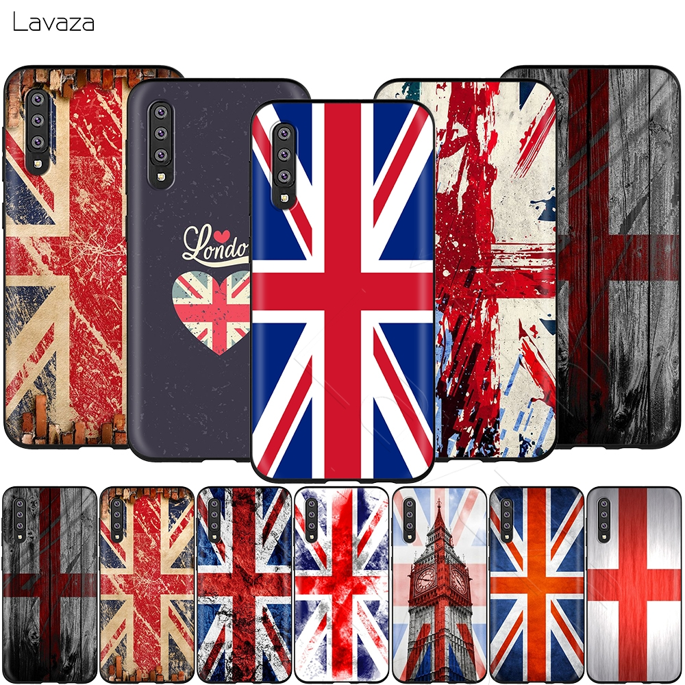 Lavaza England British English Uk <font><b>Flag</b></font> Case for <font><b>Samsung</b></font> Galaxy Note 10 Plus <font><b>A10</b></font> A30 A40 A50 A70 M20 A20 A20S A10S A30S A50S image