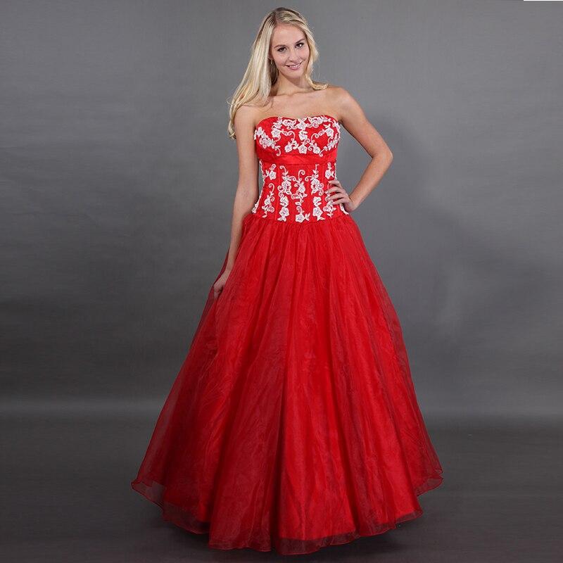 Robes de Quinceanera rouge nouveauté Sweet 15 robes de bal bouffantes ivoire Appliques Vestido Quinceanera Debutante 2019 robe douce 16