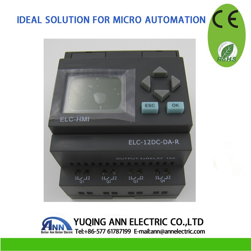 Best Price PLC ELC-12DC-DA-R-HMI with HMI,mini PLC, low cost PLC, The cable should To buy separately mhaa2zm a