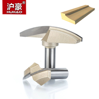 HUHAO 1pcs 1 2 Shank Classical Plunge Bit CNC Woodworking Tools Two Flute Router Bits For
