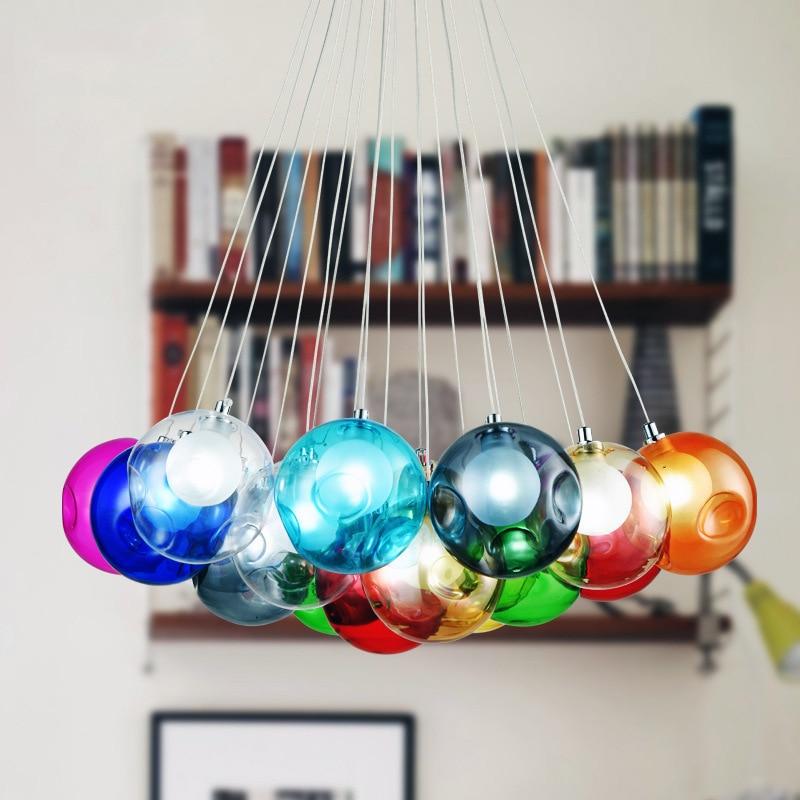 יצירתי זכוכית צבעונית נברשת צבע DIY 110v - תאורה פנימית