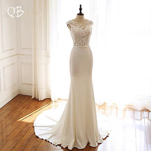 QUEEN BRIDAL Custom Made Wedding Dresses Mermaid Satin