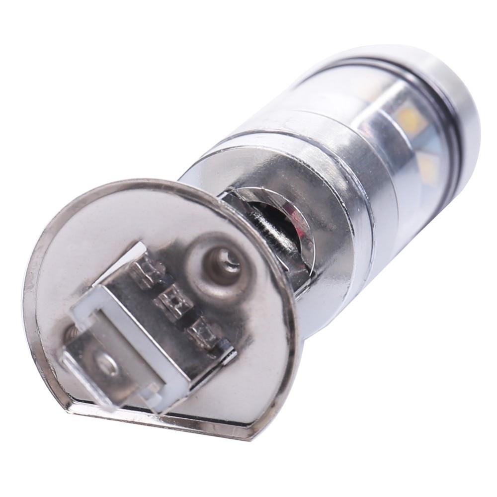 H1 100 Вт Противотуманные фары белый 6500K автомобильный светильник 12 В 20 светодиодный луковицы линзы проектора яркие дневные ходовые огни DRL вождения авто лампа