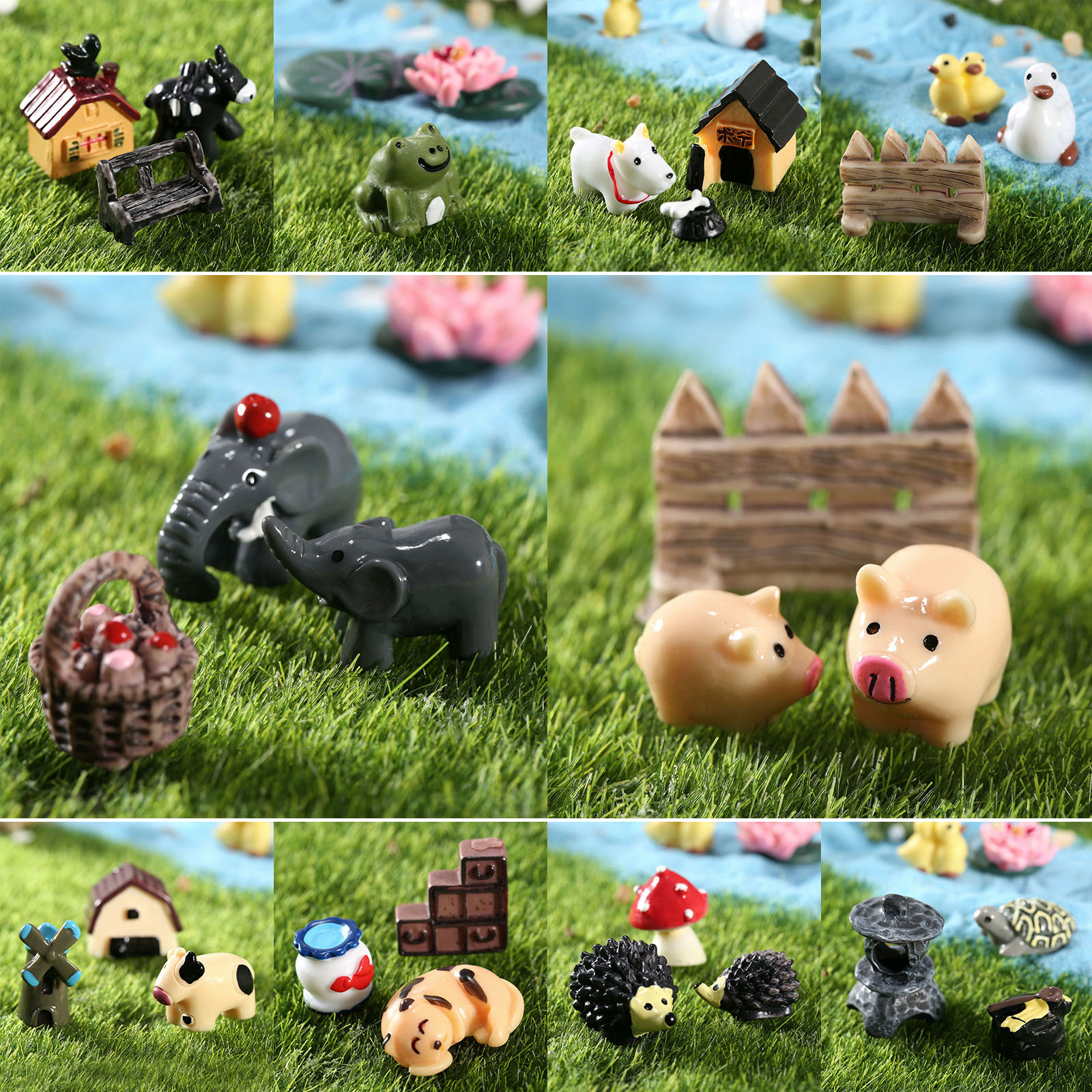Multipurpose Cartoon Animal Fairy Tale Micro World Ornaments Fairy Gardenminiatures Craft Landscape Home Figurines Miniatures Fromhome Cartoon Animal Fairy Tale Micro World Ornaments Fairy