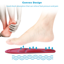 Orthotic Massage Pain Relief Insole Shock Absorber Comfort Cushion Pads