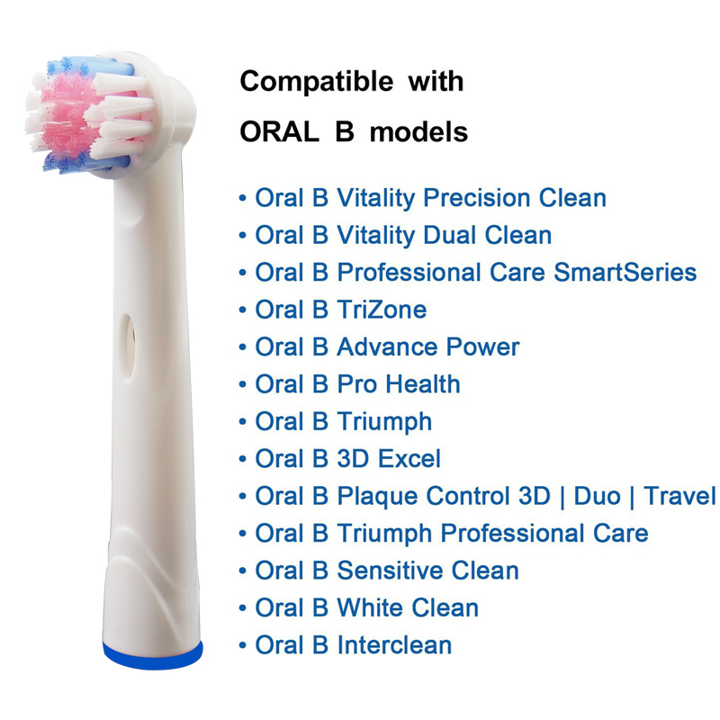 12pcs oral b electric toothbrush replacement heads for braun vitality oral b tooth brush heads Floss Action Cross Action Triumph in Replacement Toothbrush Heads from Home Appliances