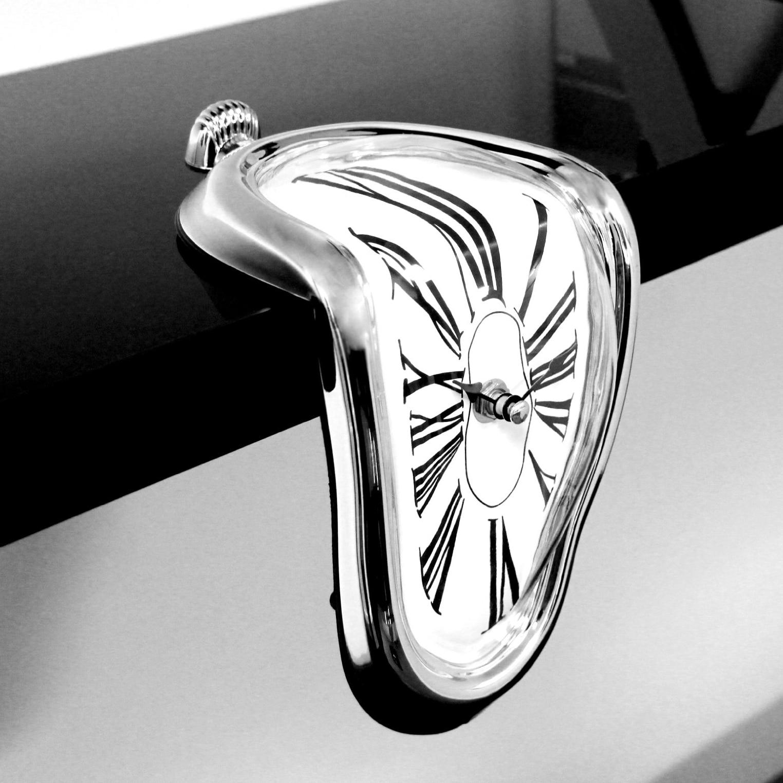 Плавления часы дома Книги по искусству дизайн большой висят настенные часы Тихая часы декора дома моды настенные часы Relojes украшения