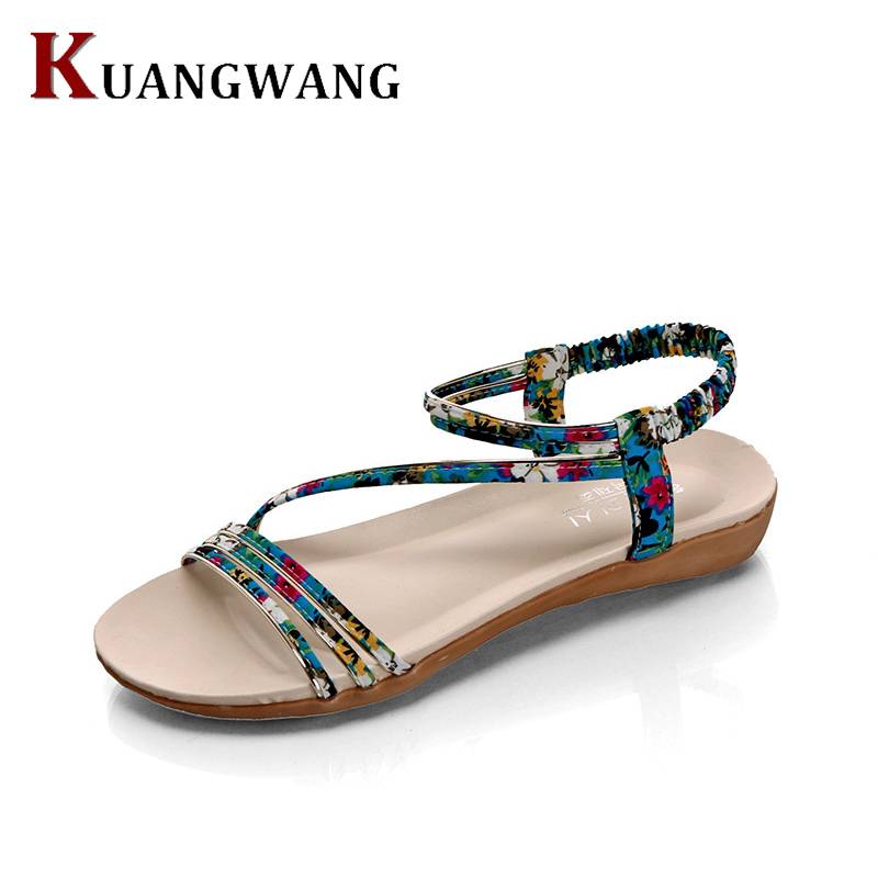 Summer Women Sandals Bohemia Jelly Flats Rubber Open Toe Beach Sandals Gladiator Shoes Women Sandalias Mujer Ladies Shoes summer women sandals elastic band gladiator sandals women beach shoes bohemia wedges shoes sandalias mujer ladies shoes or876610