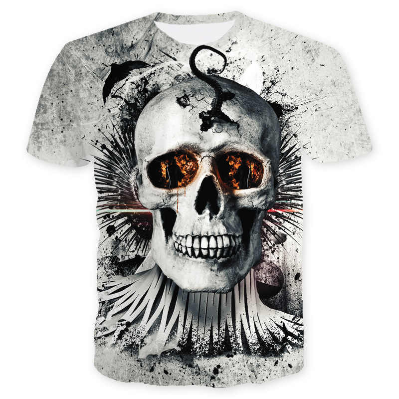 ca4e5e0abbb Moto Tete De Mort 3D Printed Mens T Shirts Fashion 2018 Summer Cool Skull  Tshirt Slim Fit Motorcycle Short Sleeve T Shirt