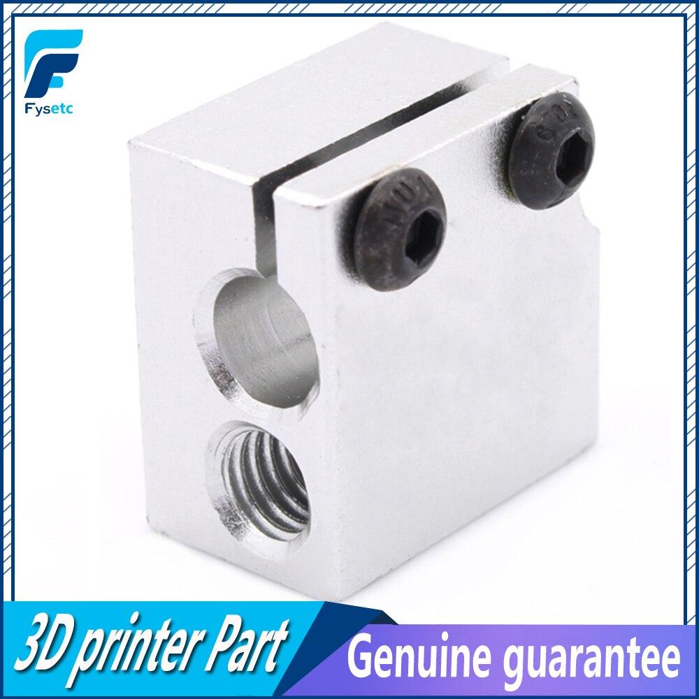 5 Pcs New Aluminum Heater Block 3D Printer Parts Accessories Volcano Hot End Eruption Heater Block Heating Block