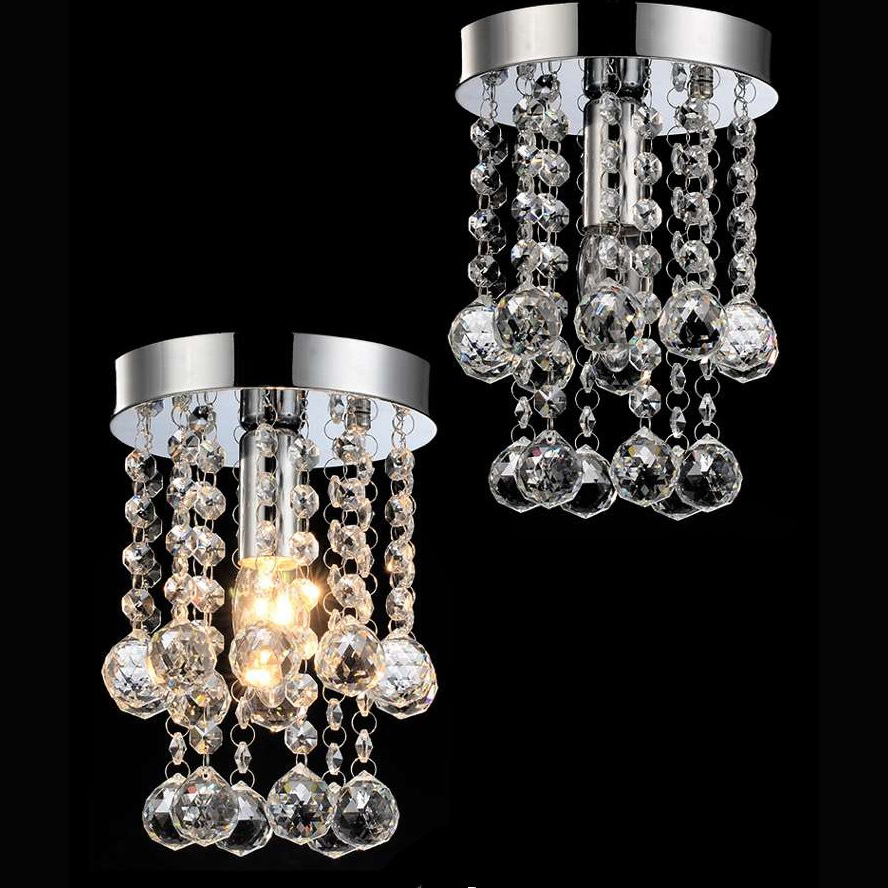 цена на Modern Chandelier Lighting Pendants Lustre Round Crystal Chandelier Lamp Hanging Lighs with 100% K9 Crystal Balls D15cm H23cm