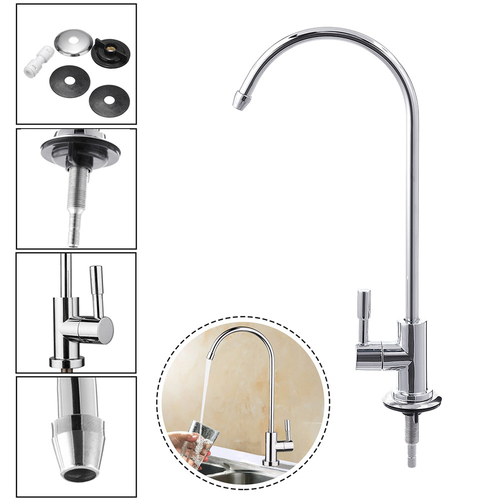 Kitchen 1/4 Inch RO Drinking Water Filter Faucet Reverse ...