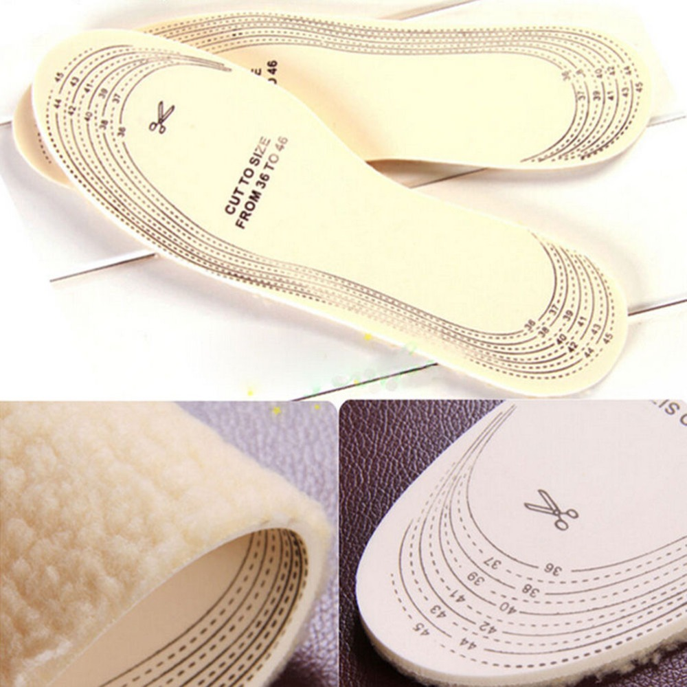 Winter Wool Warm Heated Insoles Thermal Thickened Warm Keeping Shoes Pad For Men And Women