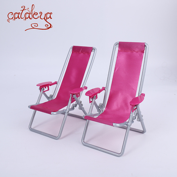 Cataleya BJD Doll 1/6 Swimming Folding Chair Accessories House Pink Rose Beach Chair Selling at a loss is only for a few days