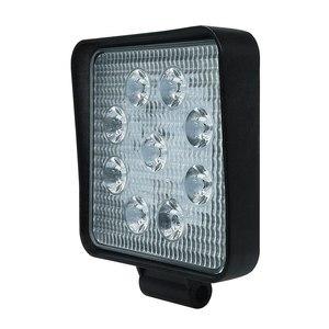 Image 2 - עבודת המכונית אור 27W LED כיכר אור 6000k 2700LM סופר בהיר חיצוני פנס הנורה שיפוץ מחוץ לכביש רכב גג רצועת אור