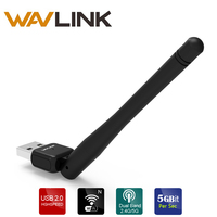 Wavlink USB WiFi адаптер ac600 Dual Band 5 г/2.4 г Nano Размеры USB 2.0 Беспроводной Адаптер сети Ethernet LAN карта для ноутбука и ПК