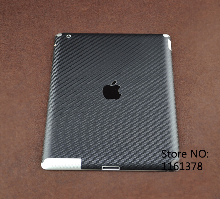 2015 new carbon fiber sticker skin for ipad 2 3 frontback protective decal decals for the new ipad decor for ipad 3 black in tablet decals from computer